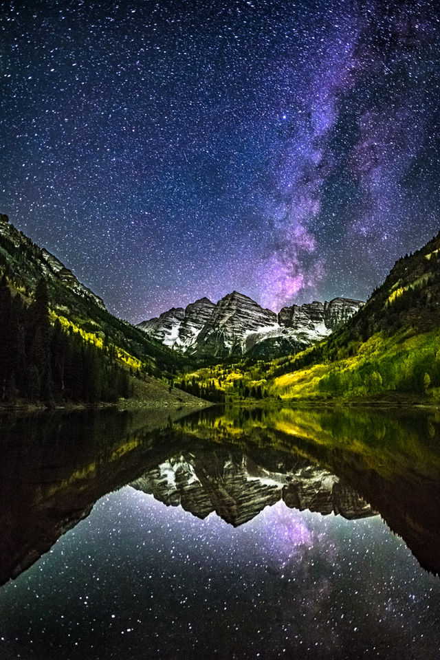 Colorado, Landscape, Stars, fall