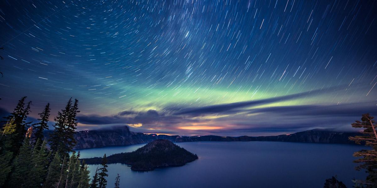 Dizzy Night at Crater Lake