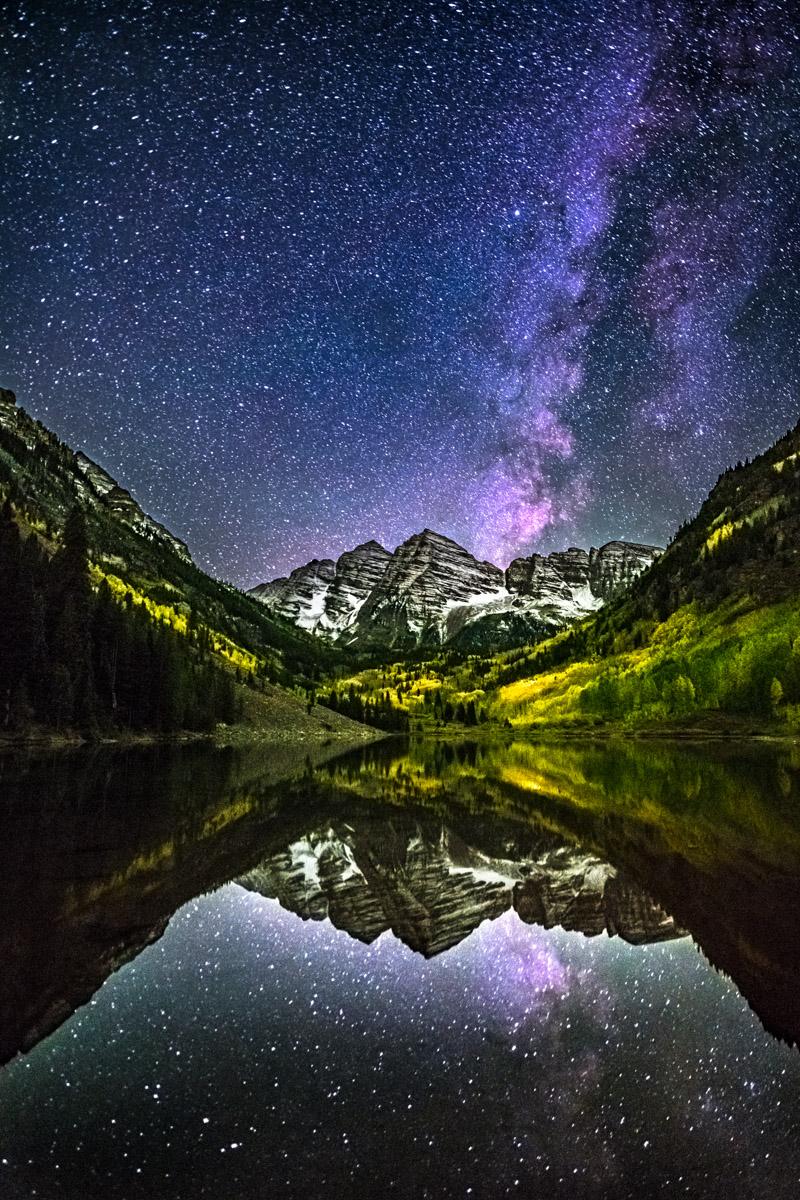 Colorado, Landscape, Stars, fall
